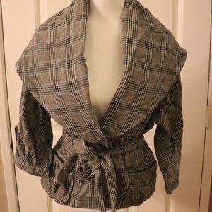 Marc Jacobs Jackets & Coats - Marc Jacobs   plaid wool blend shawl jacket